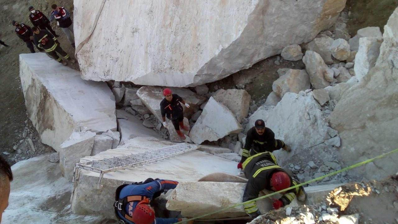 Konya'da maden ocağında iki kayanın arasına sıkışan işçi vefat etti