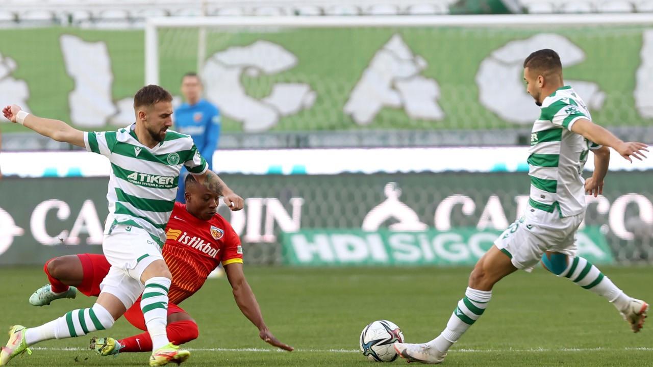 Konyaspor, Kayserispor'u ilk yarıda devirdi