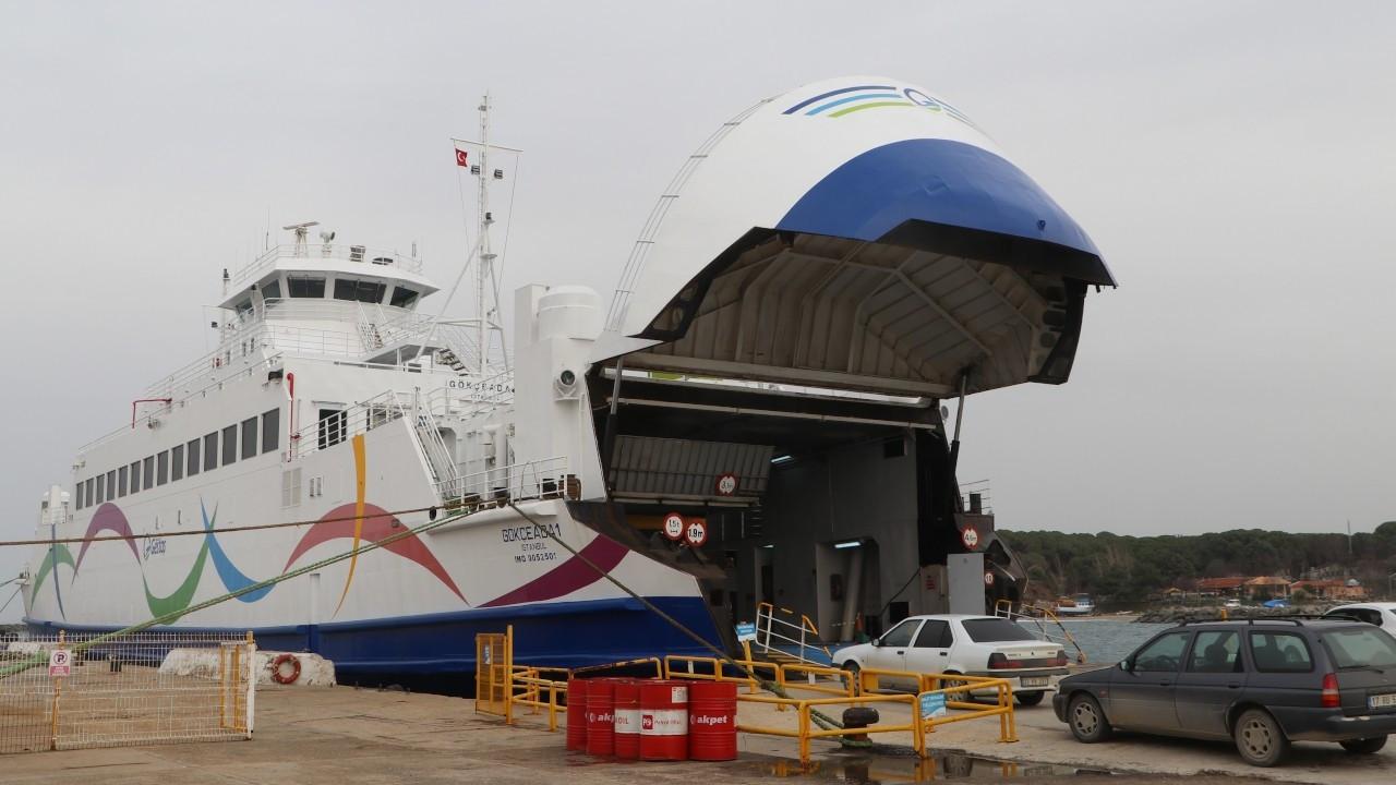 Gökçeada-Kabatepe feribot seferleri iptal edildi