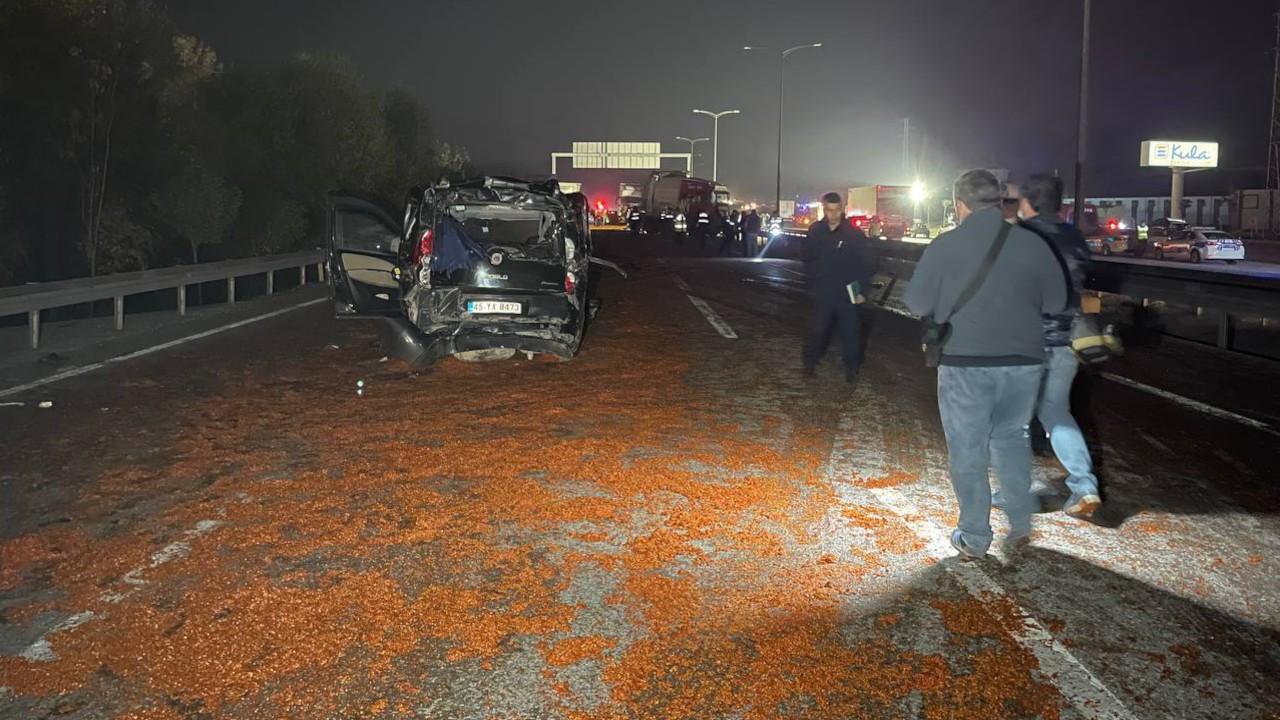 Salça kazası: 18 araç çarpıştı, bir kişi öldü