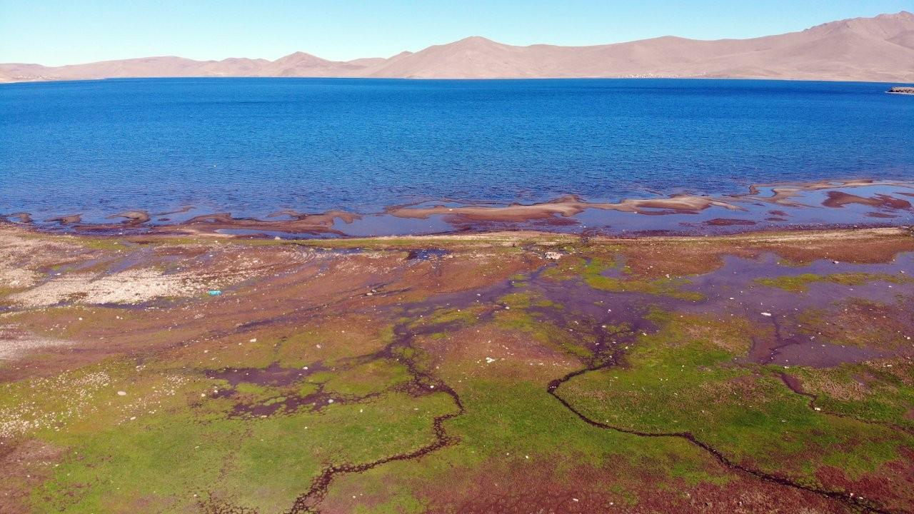 Kuraklık Ağrı'daki Balık Gölü'nü de etkiledi