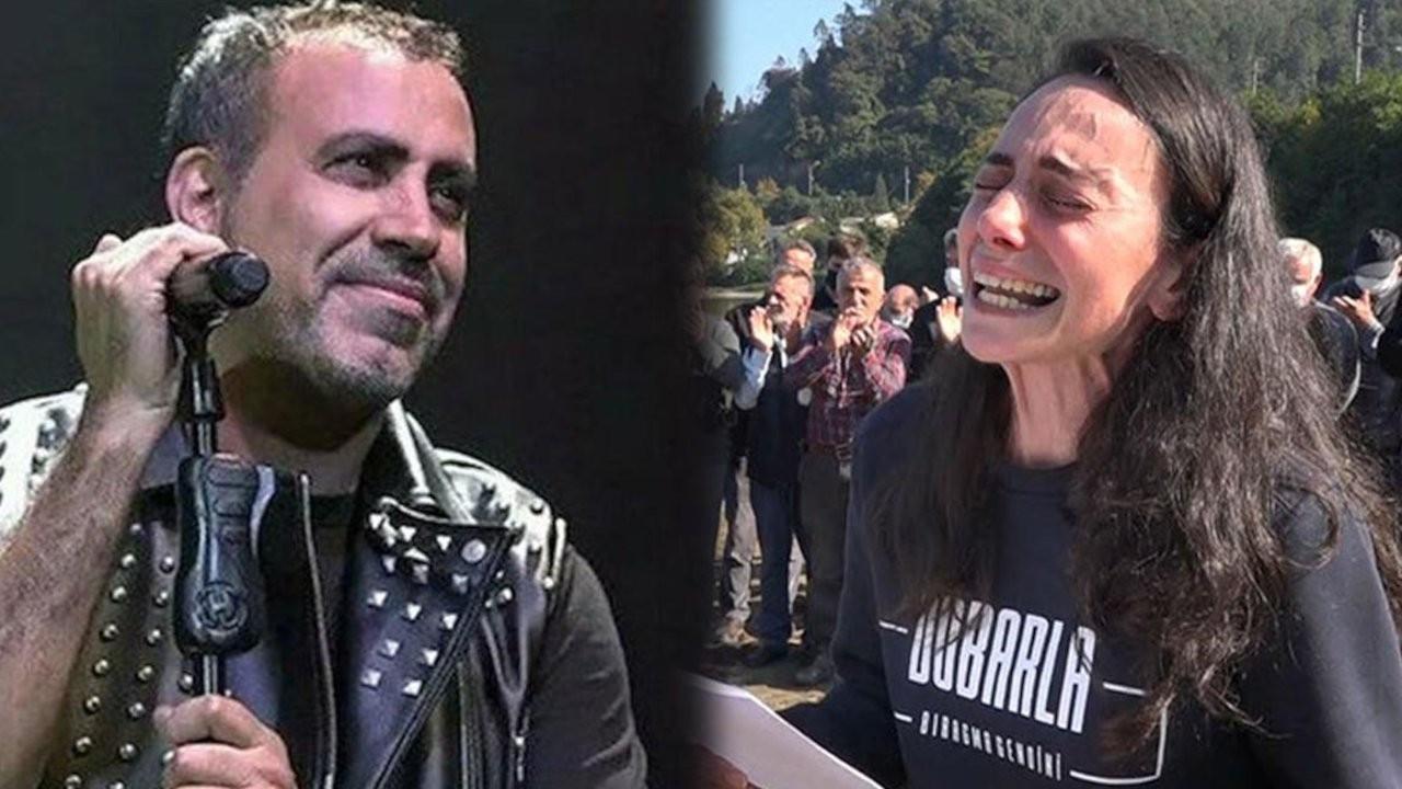 Haluk Levent'ten ressam Gökçe Erhan'a destek: Trabzon AHBAP, haydi!