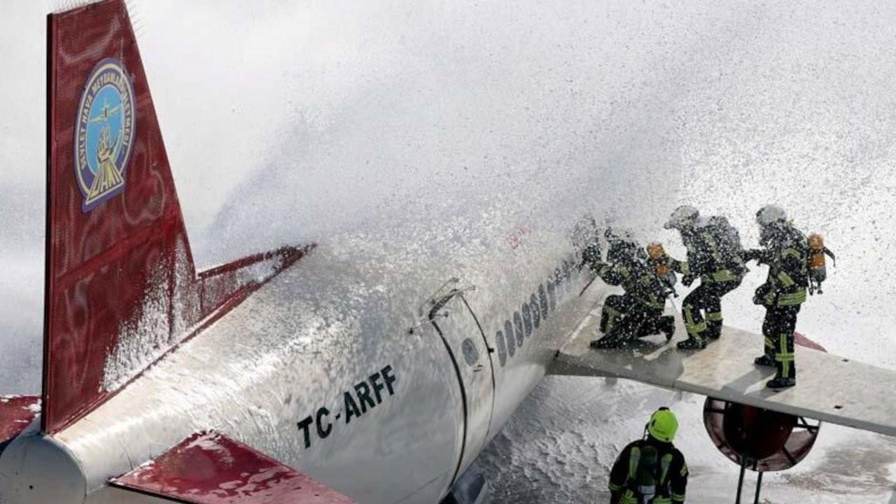 Esenboğa Havalimanı'nda uçak kazası tatbikatı